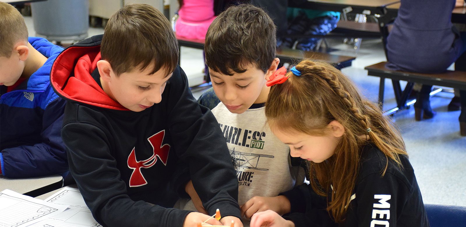 Cayuga Students Craft With Candy Corn