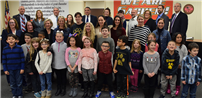 Board Recognizes Special Students at February Meeting photo