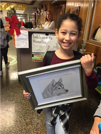 Hiawatha Students Talk Pencil Drawing photo 2